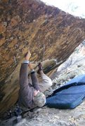 Rock Climbing Photo: Loren on a Tabeuache Warm up V4 3