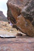 Rock Climbing Photo: Right Gonad V4