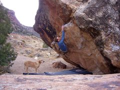 Rock Climbing Photo: Right Gonad V5