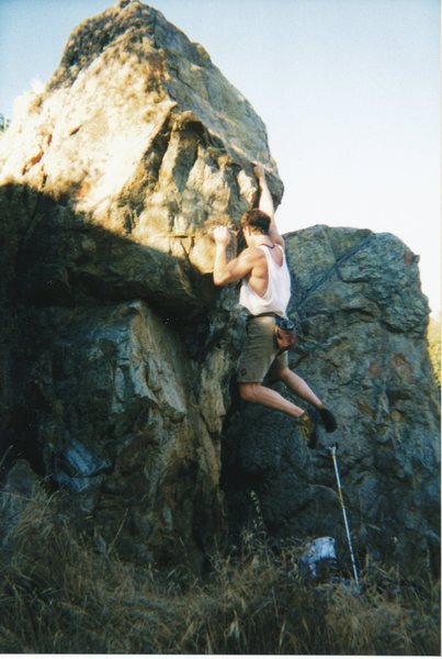 Rock Climbing Photo: Feet need not fly out like this, its just in my na...