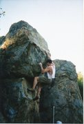 Rock Climbing Photo: Straight foreward once you see the holds amongst m...