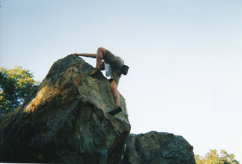 Rock Climbing Photo: Not too high, but it starts on slanted ground and ...