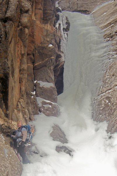 Rock Climbing Photo: Bottom of Bean Gulch. Climber: Betty Thorson, Gran...