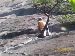 Rock Climbing Photo: at rap anchor. clip for pro, then up & right to ne...