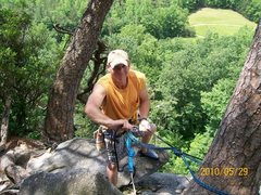 Rock Climbing Photo: topo for block route. great view's already!