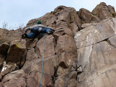 Rock Climbing Photo: Halfway up the fun little route.