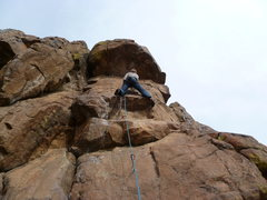 Rock Climbing Photo: At the lower crux.