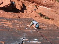 Rock Climbing Photo: Greg on the Panty Line