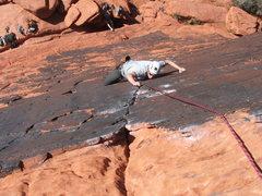 Rock Climbing Photo: Tim on the Panty Line 5.10a