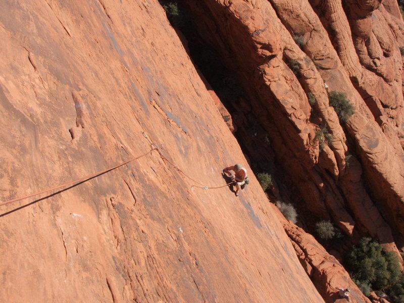 Rock Climbing Photo: Troy on the Ultraman 5.8