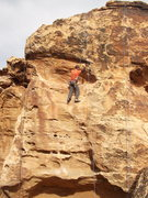 Rock Climbing Photo: Left to right: Puppet Strings, Shotgun Baptism, 12...