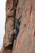 Rock Climbing Photo: Falon getting started on Footloose.