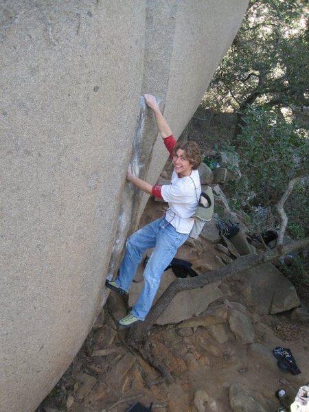 Rock Climbing Photo: Doug's warm-up climb