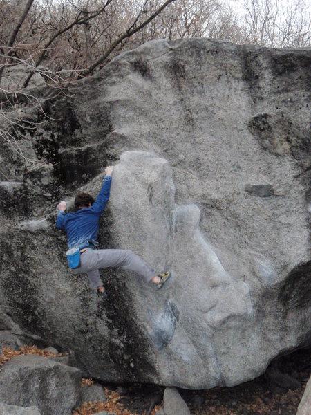Greasy traverse variation V2 Secret Garden November 12, 2009