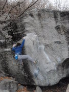 Rock Climbing Photo: Greasy traverse variation V2 Secret Garden Novembe...