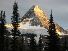 Rock Climbing Photo: Sunset on the North Face of Mt. Assiniboine