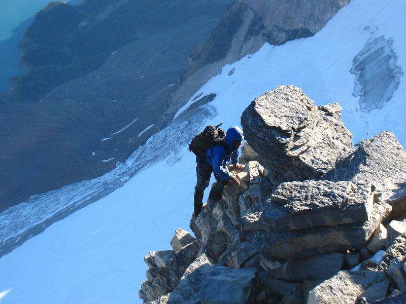 Alpine ridge scrambling at its finest