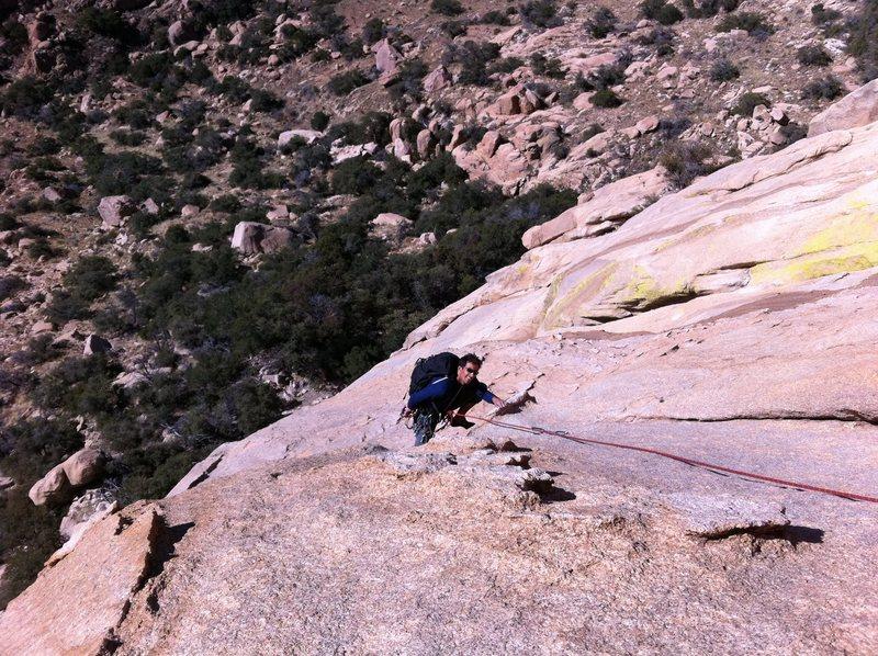 Rock Climbing Photo: Kabir on his way up Peacemaker.