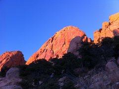 Rock Climbing Photo: Ah, the rosy glow of Sheepshead!