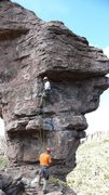 Rock Climbing Photo: After eying the lone small cam in the horizontal, ...