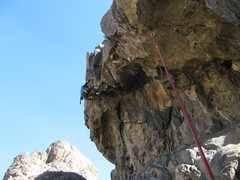 Rock Climbing Photo: I think this is where the crux is
