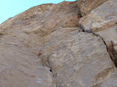 Rock Climbing Photo: Looking up at the short roof on From Chocolate to ...