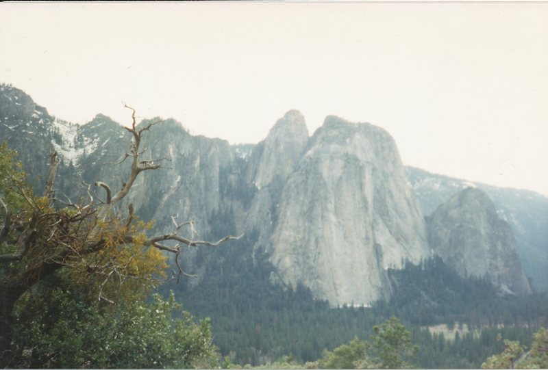Rock Climbing Photo: Higher, Middle and Lower Cathedrals.