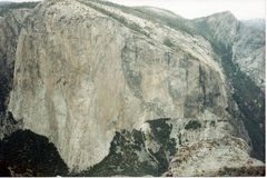 Rock Climbing Photo: Looking at El Cap in its entirety. Rare view for s...
