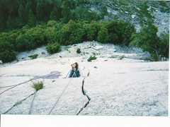 Rock Climbing Photo: I held only enough tension on the rope in case she...
