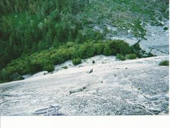 Rock Climbing Photo: She slipped on the friction pitch and got discoura...