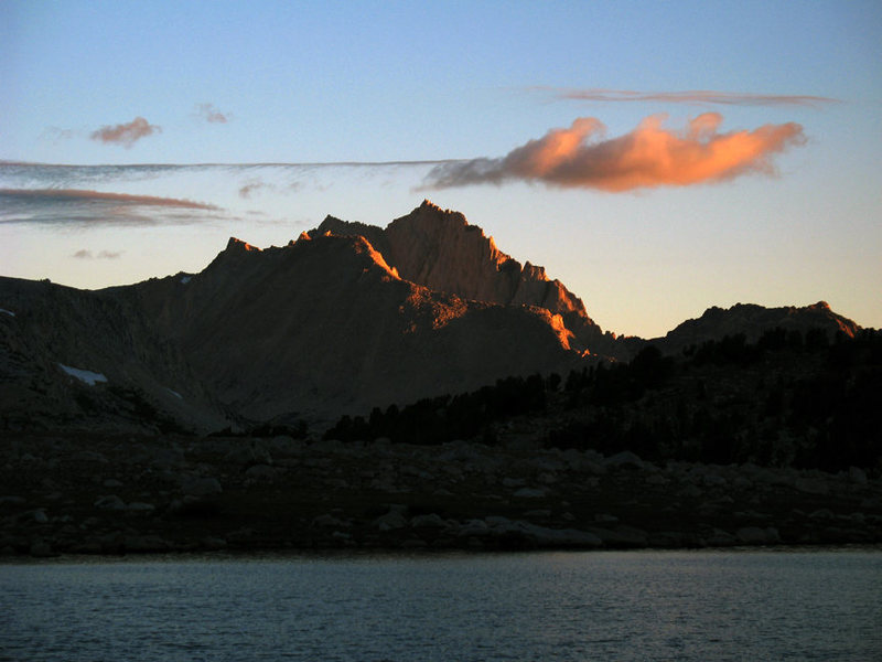Bear Creek Spire from the southwest at &quot;L&quot;<br> Lake.