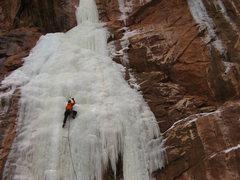 Rock Climbing Photo: No Thoroughfare Falls, Feb. 4, 2011.