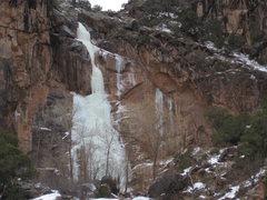Rock Climbing Photo: The falls, Feb. 4, 2011.
