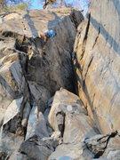 Rock Climbing Photo: Sam Stephens pulling around the Arete