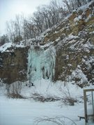 "Rock Climbing Photo: ""Quarry Monster"" 2-6-11.  Still in great..."