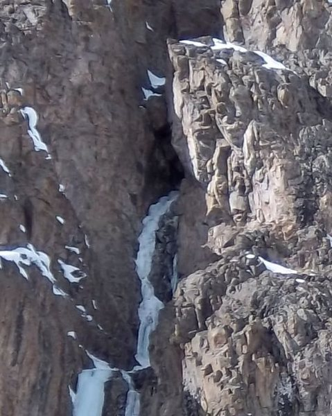 This is a close up of the cave on pitch 3.