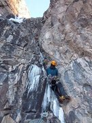 Rock Climbing Photo: Matt on the right side of pitch one. Not quite PG-...