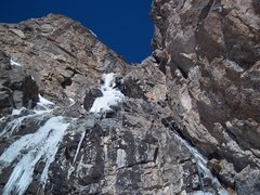 Rock Climbing Photo: The upper ice on pitch 1.