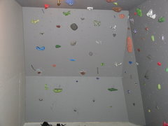 Rock Climbing Photo: My old set-up for the wall...holds have changed ar...