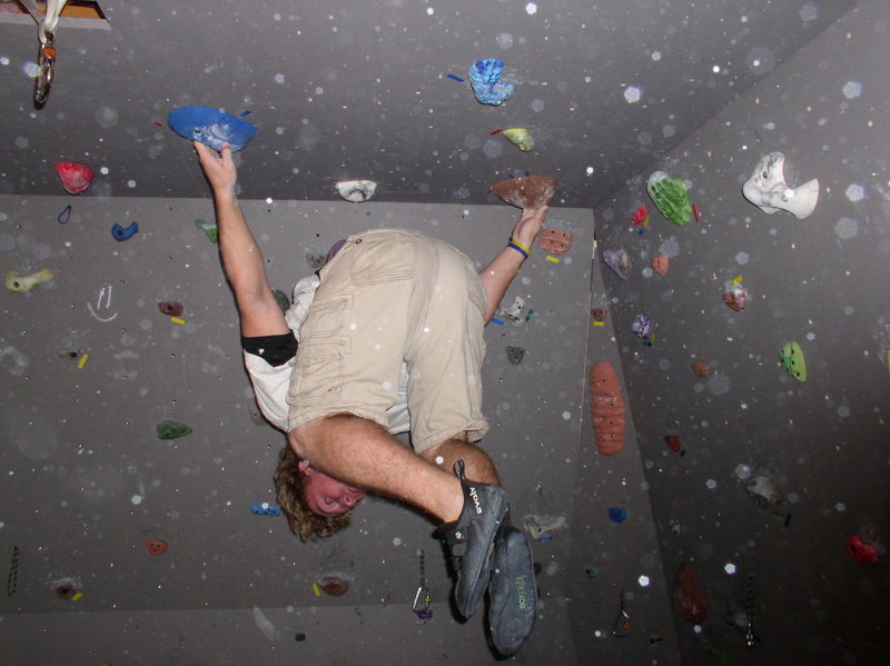 Rock Climbing Photo: Having a little fun on the roof...it's not actuall...