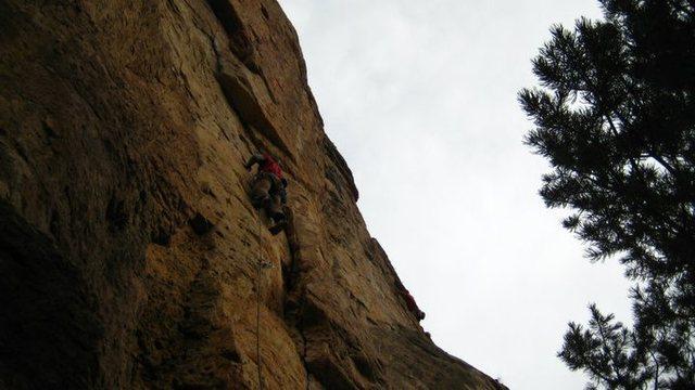 Rock Climbing Photo: The start of Fantasia.