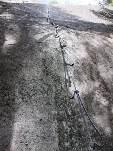 The webbing ladder to avoid the super thin 5.12 start.