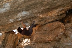 Rock Climbing Photo: Start of Hairpin Roof. I like to match the big edg...