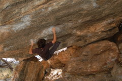Rock Climbing Photo: From here go out left to slopey rail, hand heel ma...