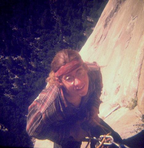 Rock Climbing Photo: FA Mescalito 1973, Hugh Burton above the Seagull.