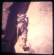 Rock Climbing Photo: Lou Dawson on Stone Groove, 1973