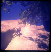 Rock Climbing Photo: Lou Dawson higher up Stone Groove, 1973