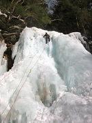Rock Climbing Photo: Guillaume Frechette heading up the left side of Pl...