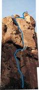Rock Climbing Photo: Follow the stars.
