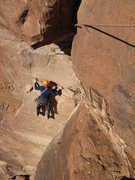 Rock Climbing Photo: Higher up and the beginning of the traverse on pit...